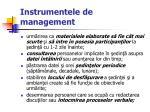 instrumentele de management45