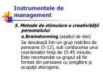 instrumentele de management59