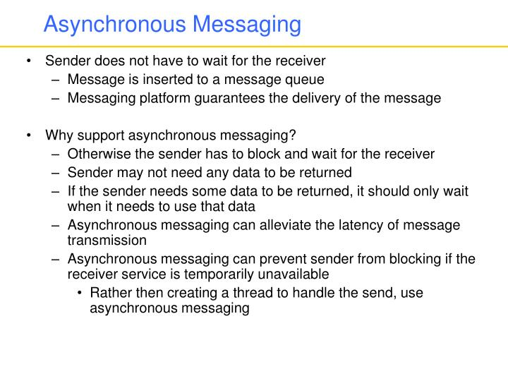 Asynchronous messaging