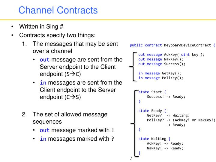 Channel Contracts