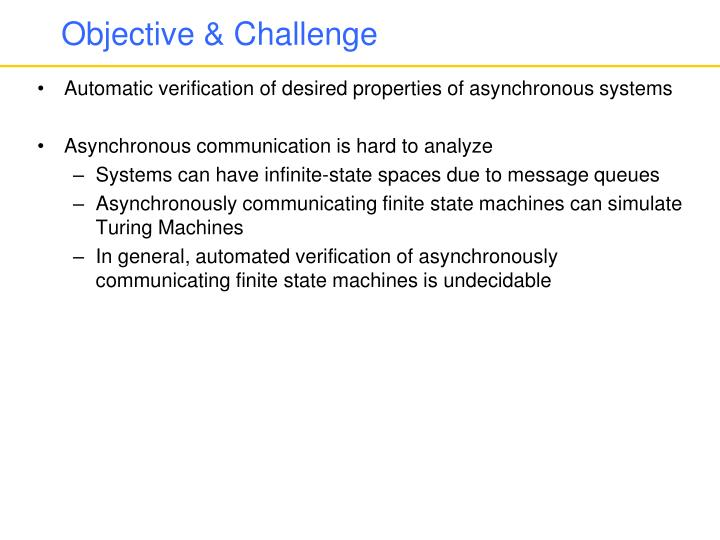 Objective & Challenge