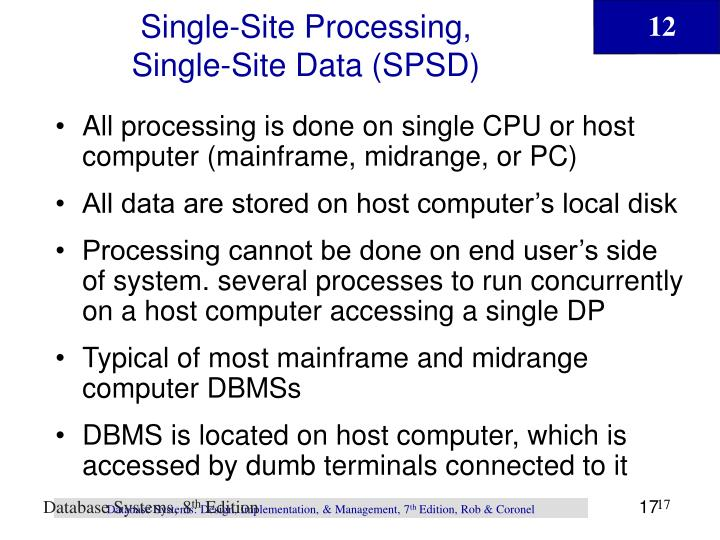 Single-Site Processing,