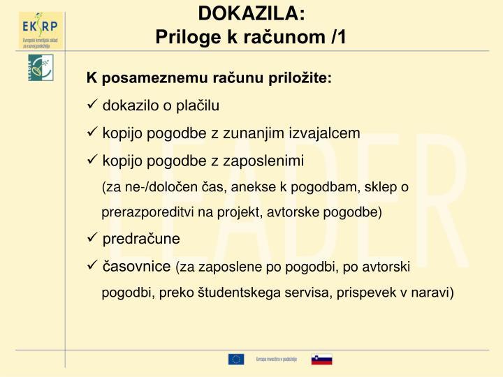 DOKAZILA: