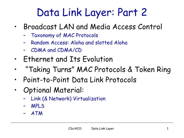 Data link layer part 2