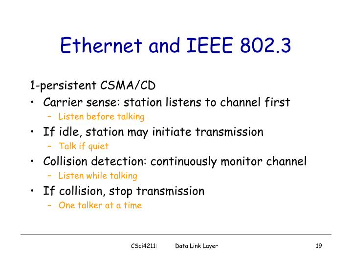 Ethernet and IEEE 802.3