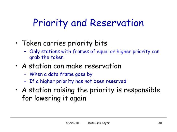 Priority and Reservation