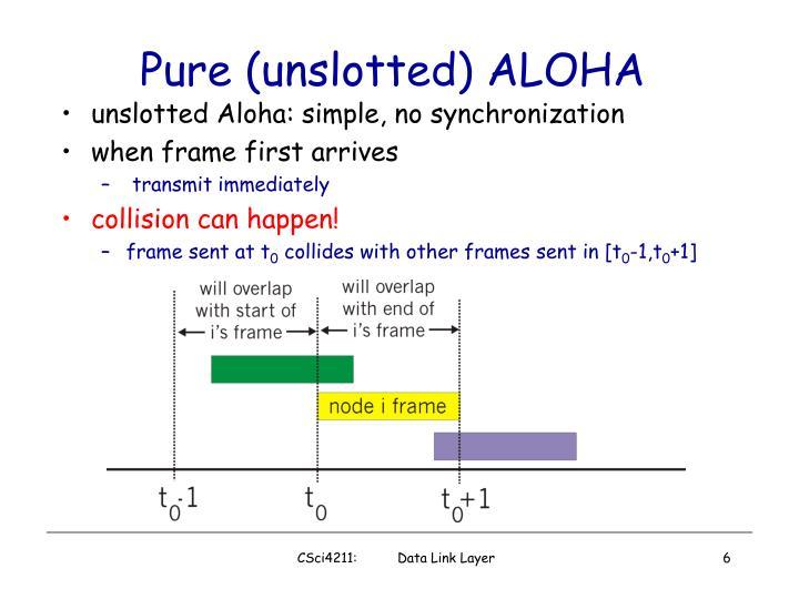 Pure (unslotted) ALOHA