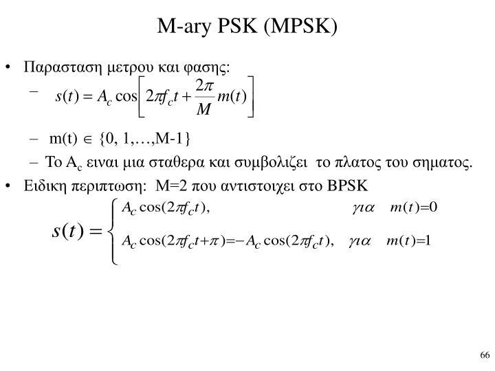 M-ary PSK (MPSK)