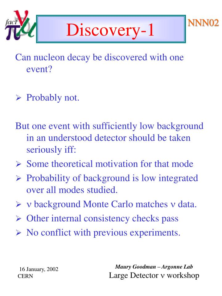 Can nucleon decay be discovered with one event?