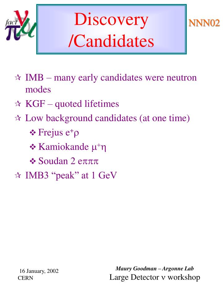 IMB – many early candidates were neutron modes