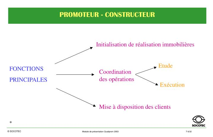 PROMOTEUR - CONSTRUCTEUR