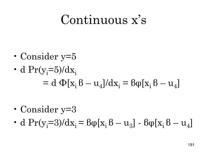 Continuous x's
