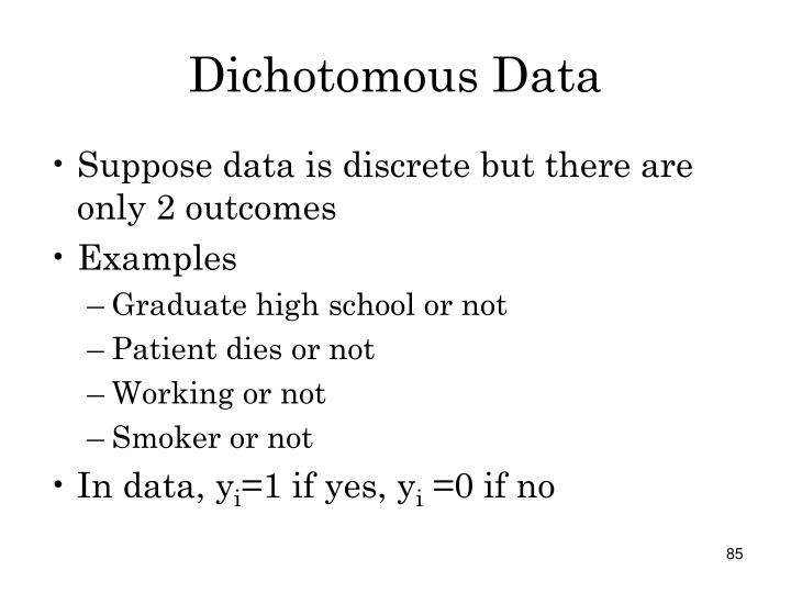 Dichotomous Data