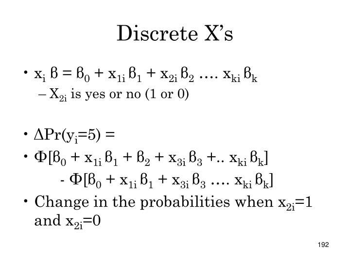 Discrete X's