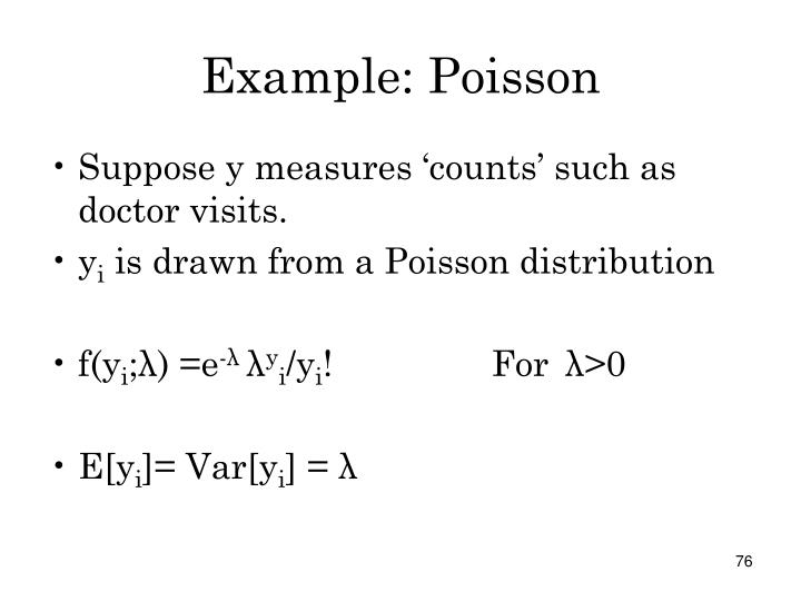 Example: Poisson
