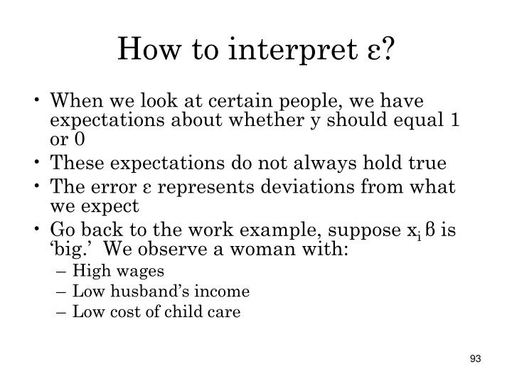 How to interpret