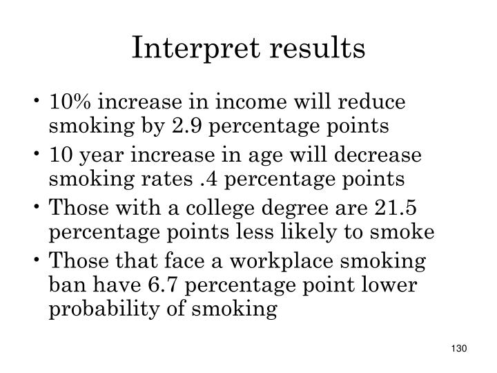 Interpret results