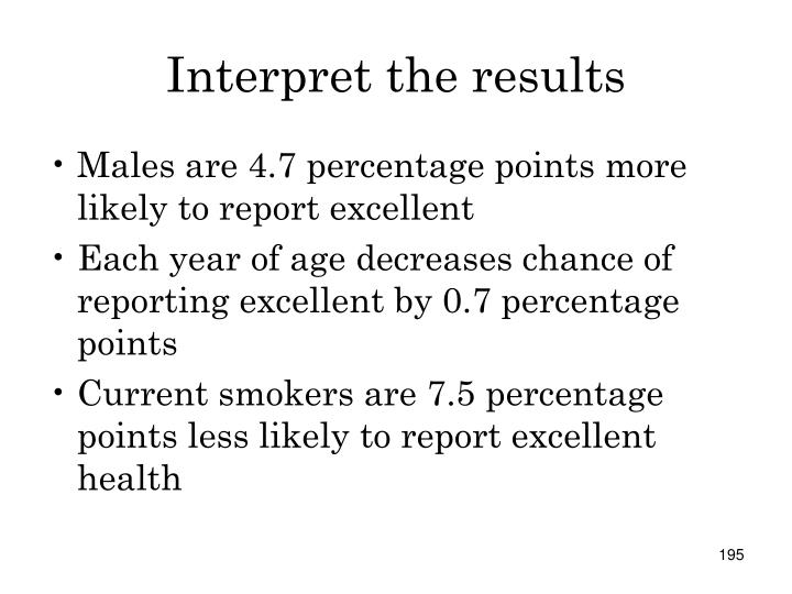 Interpret the results