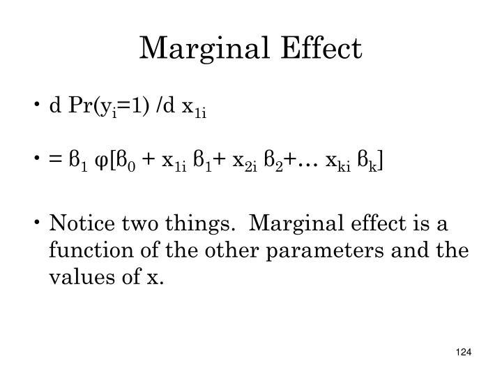 Marginal Effect