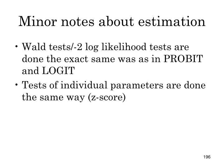Minor notes about estimation