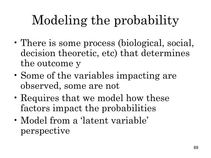 Modeling the probability