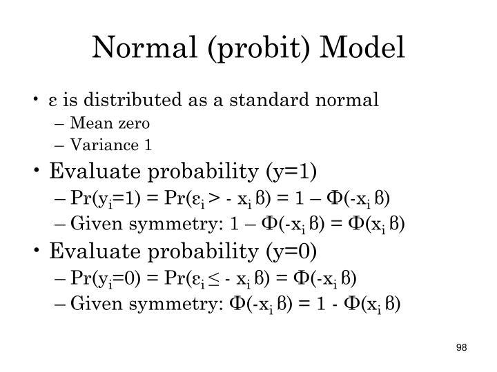 Normal (probit) Model