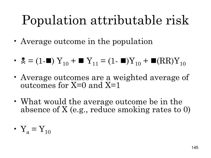 Population attributable risk