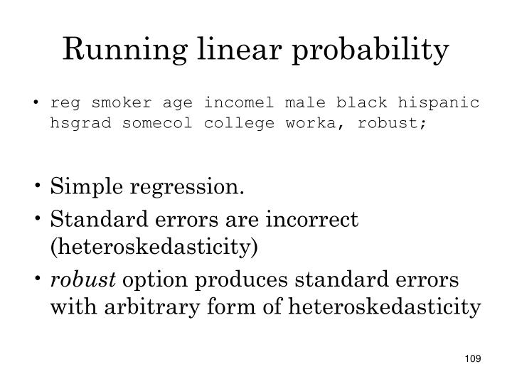 Running linear probability