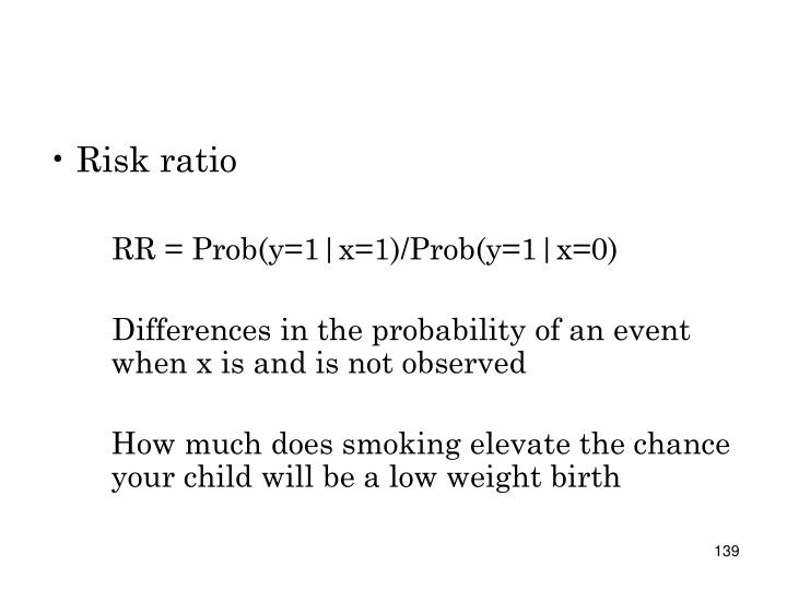 Risk ratio