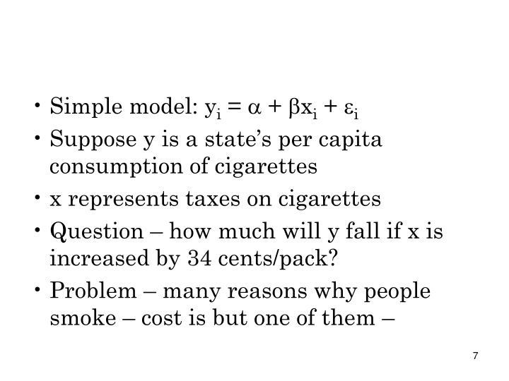 Simple model: y