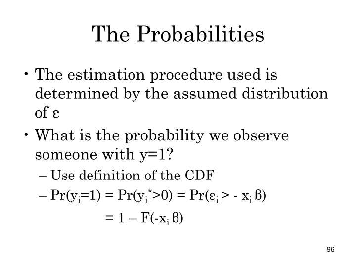 The Probabilities