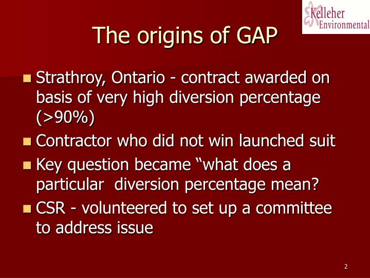 The origins of gap
