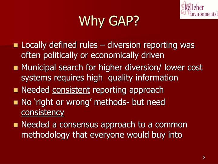 Why GAP?