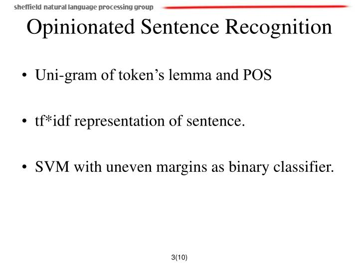 Uni-gram of token's lemma and POS