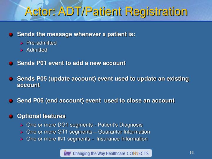 Actor: ADT/Patient Registration