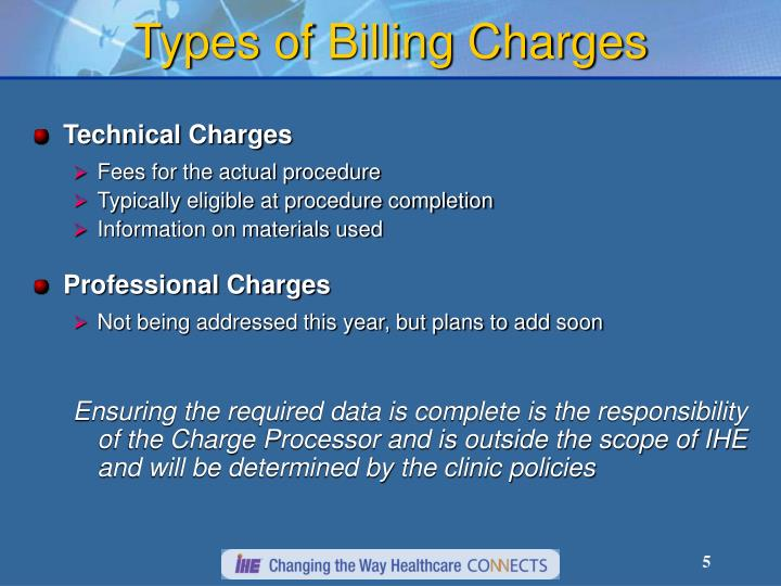 Types of Billing Charges