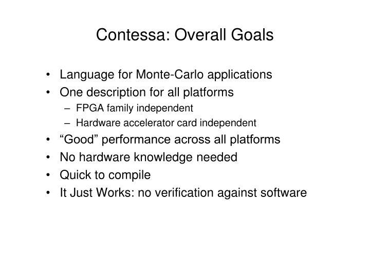Contessa: Overall Goals
