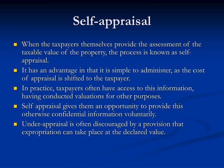 Self-appraisal