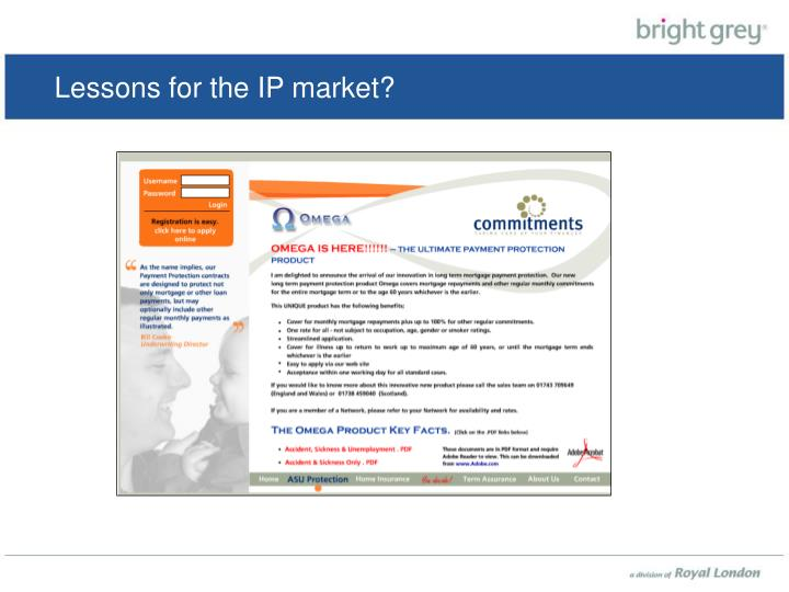 Lessons for the IP market?