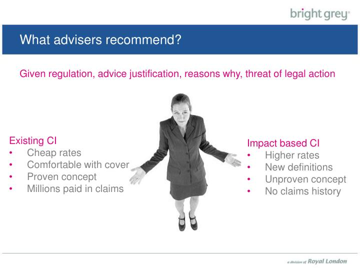 What advisers recommend?