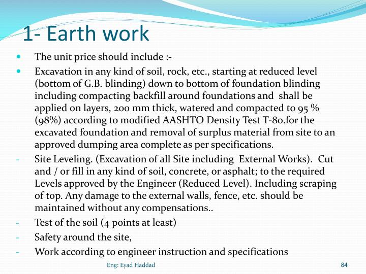1- Earth work