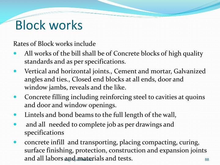 Block works