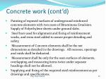 concrete work cont d