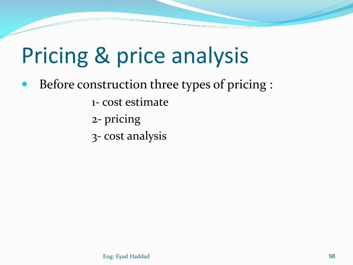 Pricing & price analysis