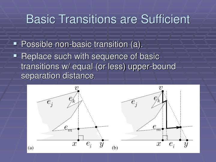 Basic Transitions are Sufficient