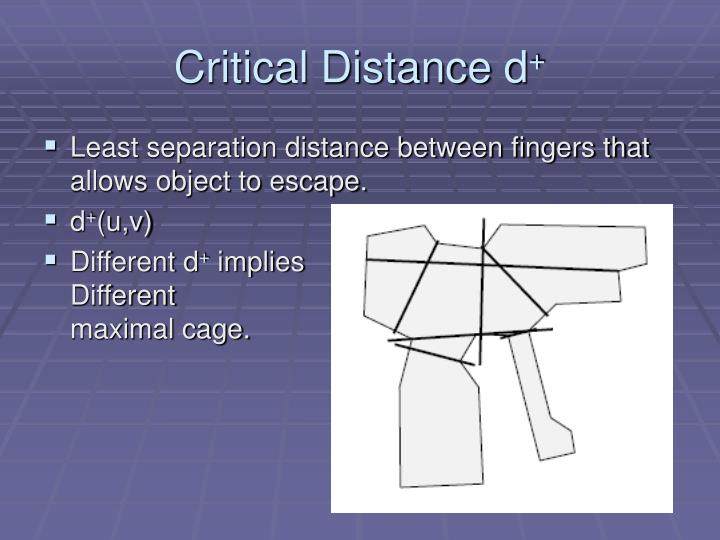 Critical Distance d