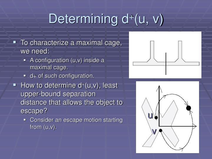 Determining d
