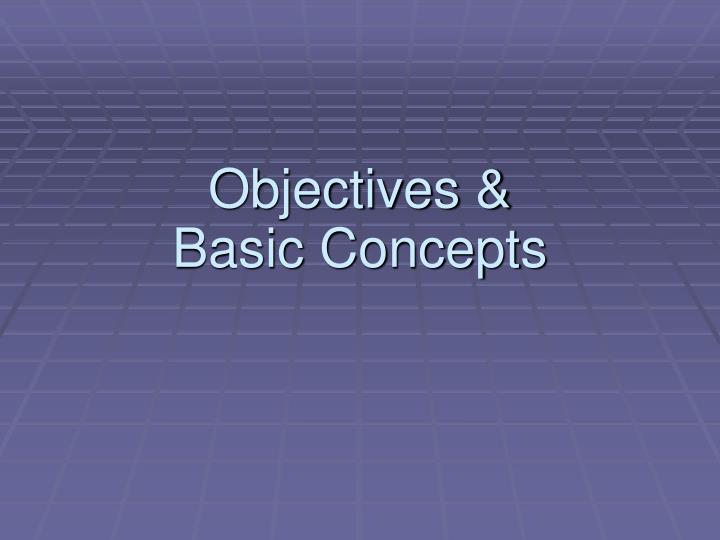 Objectives &