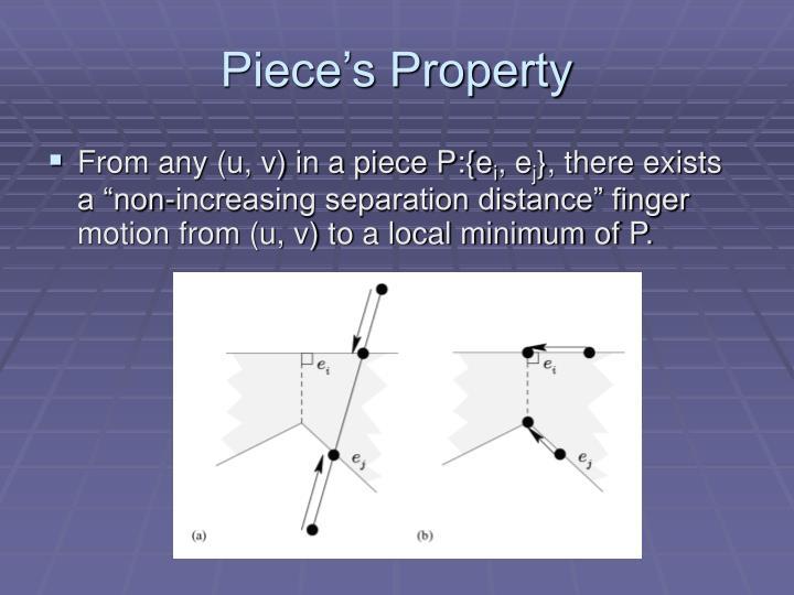 Piece's Property