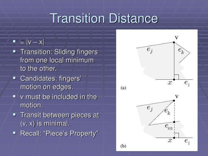 Transition Distance